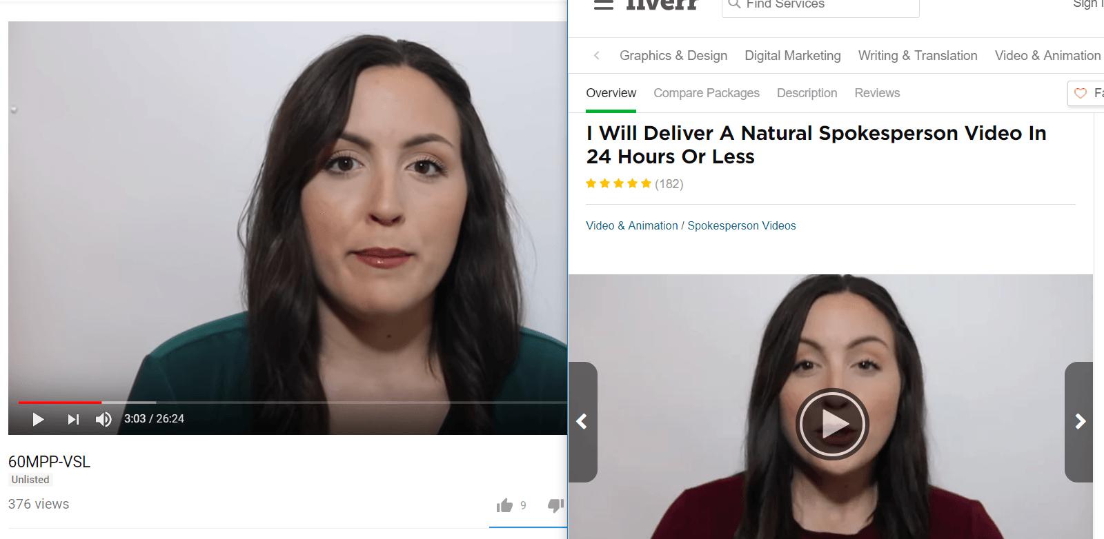 60 minute profit fake video testimonials