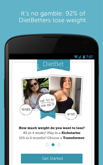 Dietbet App Screen