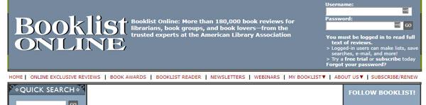 Booklist online